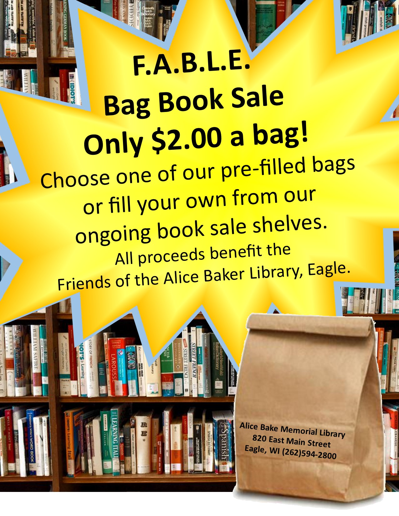 prefilled bag book sale 10-20