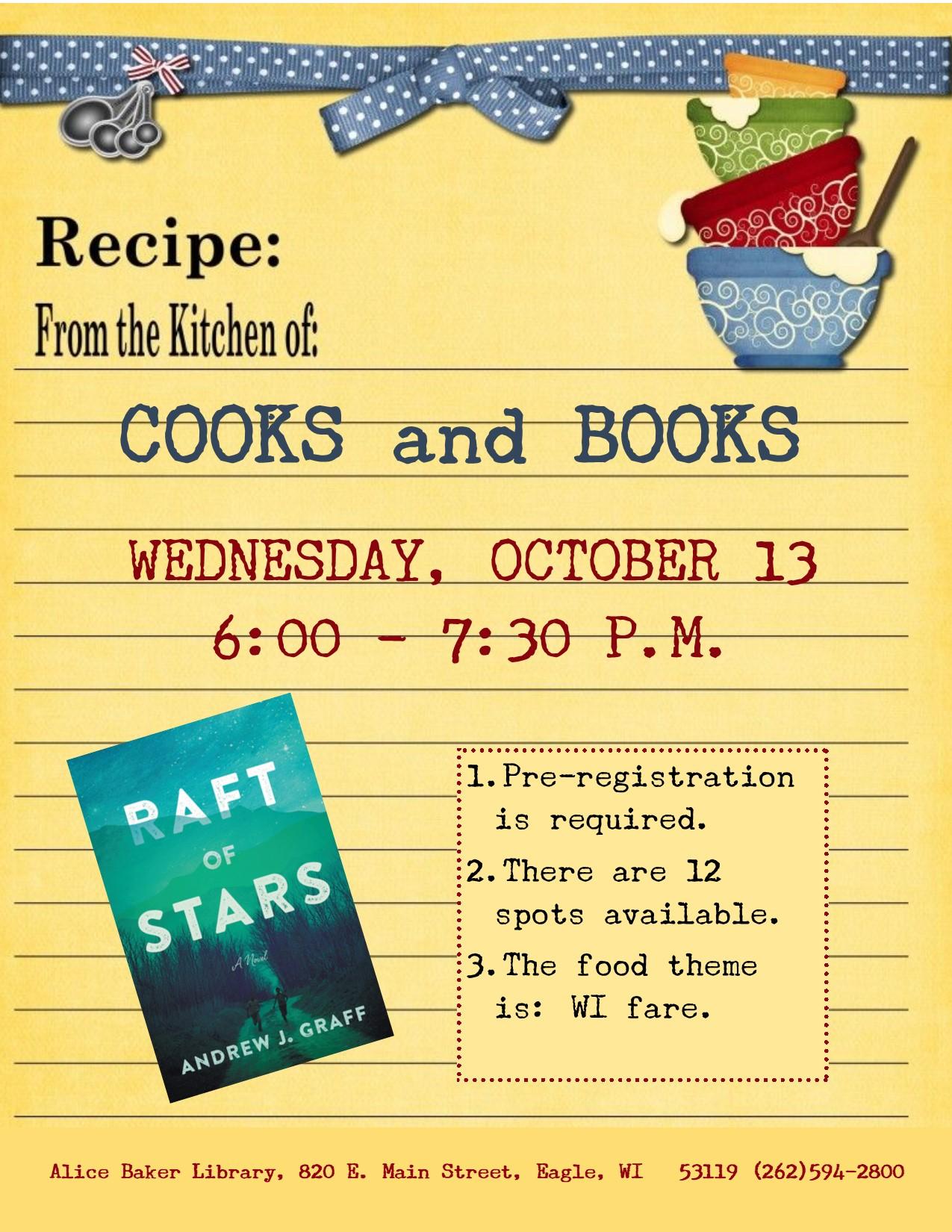 Cooks and Books - Raft of Stars